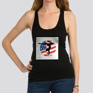 usa gymnastics copy Racerback Tank Top